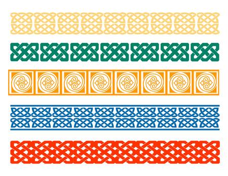 arte greca: cinque tipi di piastrelle di colore greci Vettoriali