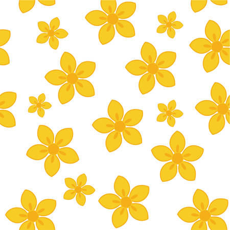 yellow flowers tile for backgrounds Vector