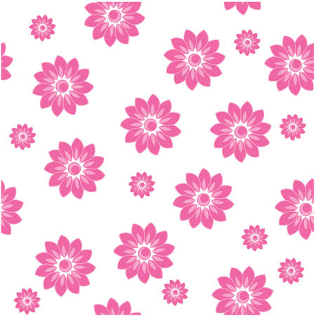 pink flowers in tile for background Vector