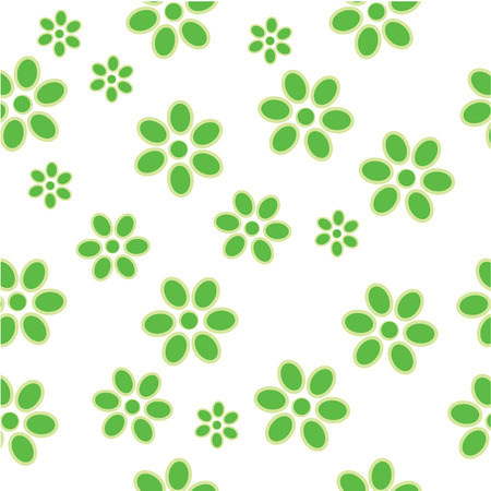 green flowers in tile for background Vector