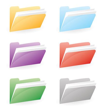 folder for files in color and vector Stock Vector - 4962981