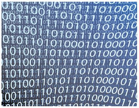 blue tech binary background in vector Stock Illustratie