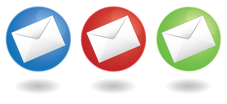 set of three mail icons in vector Stock Vector - 5013202