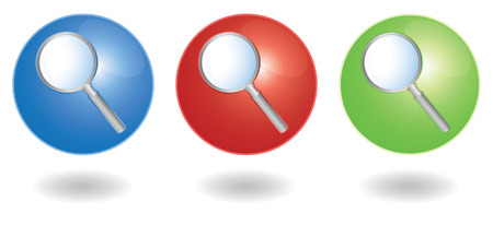 set of three search icons Vector
