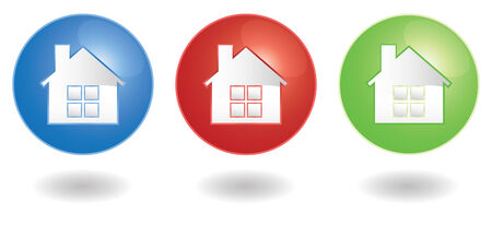 set of three home icons in vector Vector