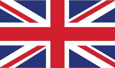 uk flag in vector mode Illustration