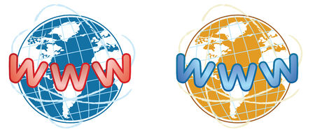 two www icon in vector mode Vector