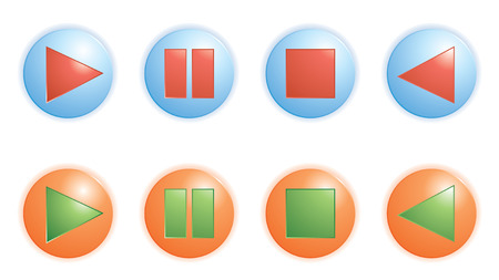 再生、一時停止、停止ボタンはベクトル