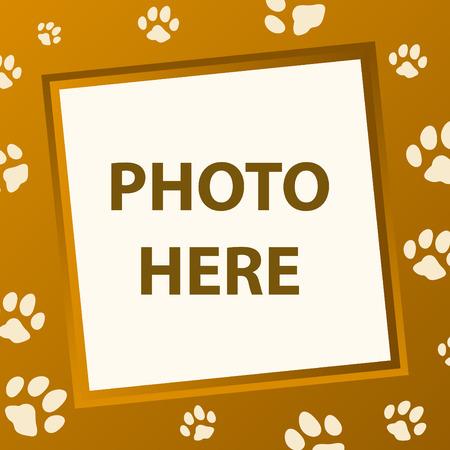 foto: poot frame vector-modus Stock Illustratie