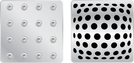 silver plates set in vector mode Vector
