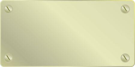 golden plate sign in vector mode Vector