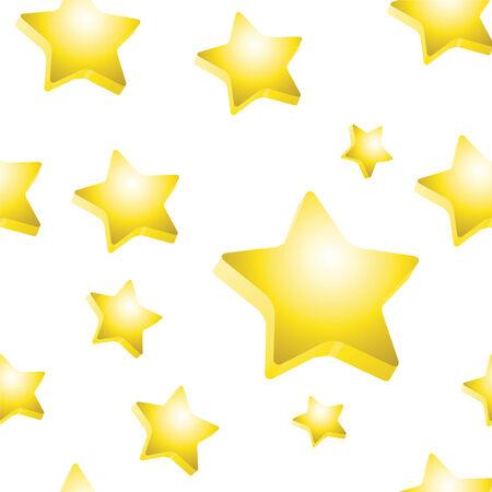 3d mode: 3d stars texture in vector mode Illustration