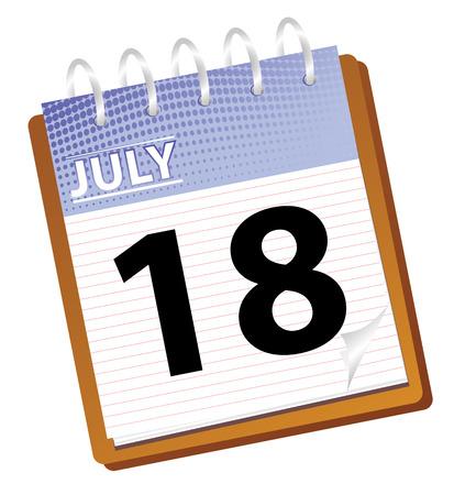 calendar: calendar of july in vetor mode