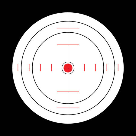 submarine target in black, white and red Stock Vector - 5131863