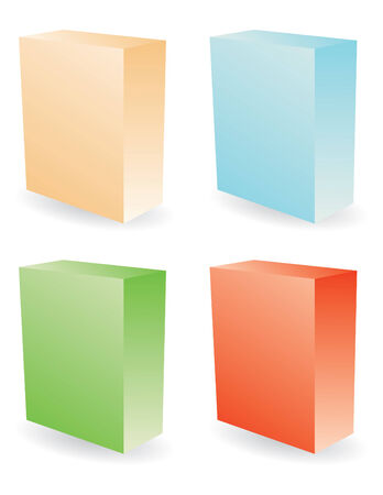 color boxes in vector mode Stock Vector - 5131861