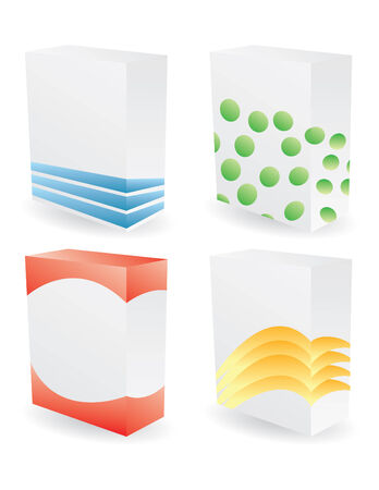 wrap vector: color poduct boxes in vector mode Illustration