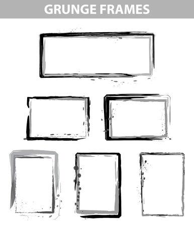 grunge dot frames set in vector mode Illustration