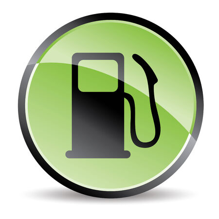 eco pump icon in green tones Illustration