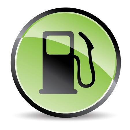 icono de la bomba ecológica en tonos verdes