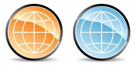 set of two globe icons in colors Stock Vector - 5181447