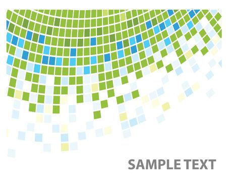 squares texture green corner in vector Stock Vector - 5181451