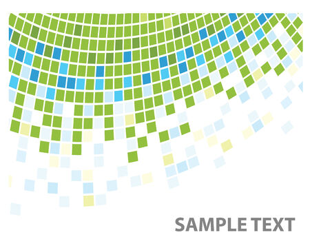 grid pattern: squares texture green corner in vector Illustration