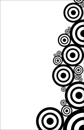 zwarte en witte cirkels textuur Stock Illustratie