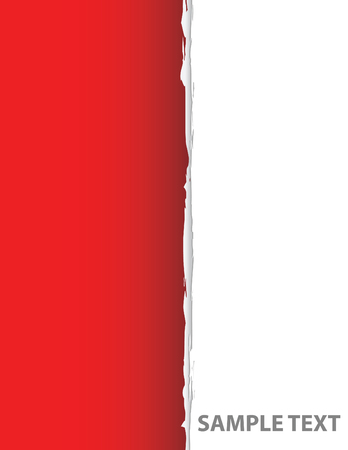 red ripped paper in vector mode Vector