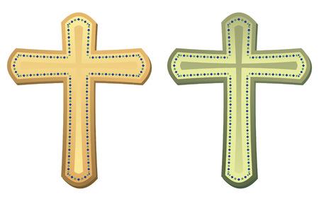 set of two crosses in vector mode Vector