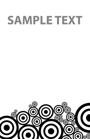 textile image: bw circles texture down in vector mode