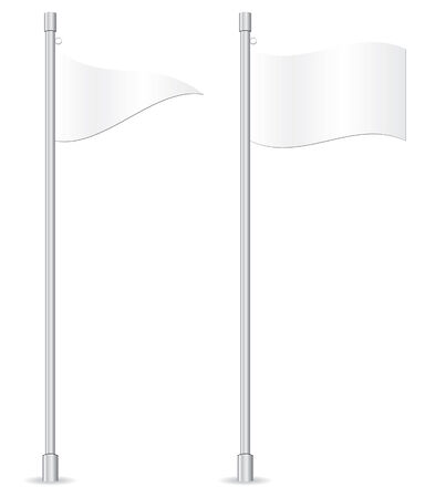 street lamp: empty flags in vector mode Illustration