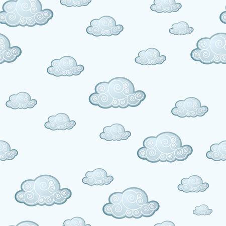 Griekse wolk tegel in vector mode Stock Illustratie