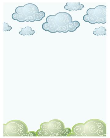 wolken en gras terug voor baby's