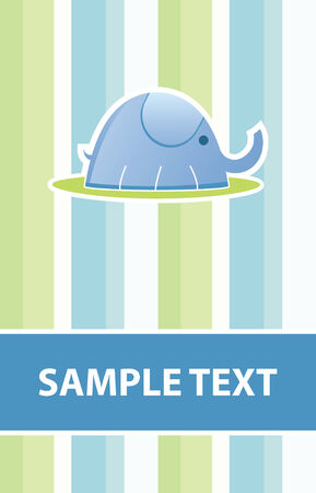 baby elephant card in vector mode  Vector