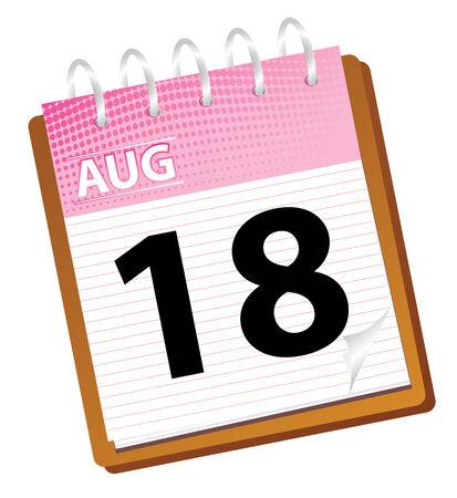 calendar: calendar august in vector mode