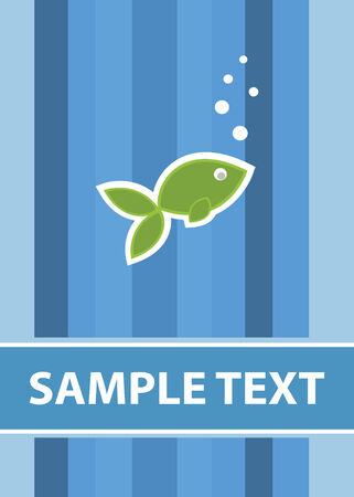 fish card template in vector mode Vector