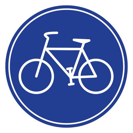 blaue Fahrrad-Symbol in vecto-Modus Lizenzfreie Bilder - 5379984