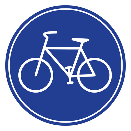 blue bike icon in vecto mode