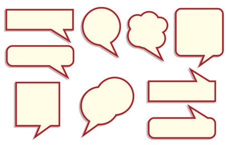 set ballon for chat and bloggin in vector Stock Vector - 5391417