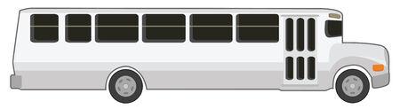 white school bus in vector mode Vector
