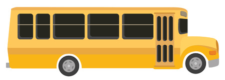 warning back: yellow school bus in vecto mode Illustration