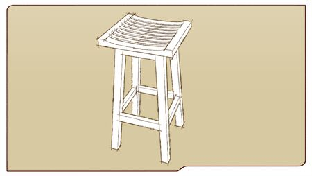bar stool in sketch traces photo