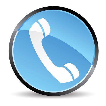 phone icon in blue tones vector Vector
