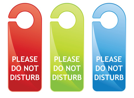 hanger sign do not disturb Stock Vector - 5550104