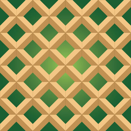 mexican tile in green and terra colors Vector