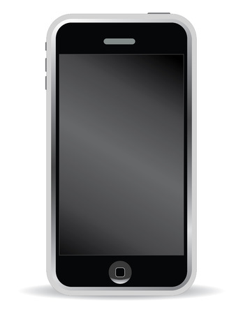 mobile phone in vector mode