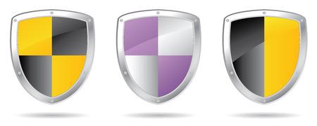 white coat: set of shields