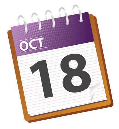 calendar: calendar october in vector mode Illustration