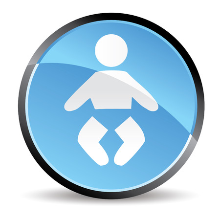 mother and baby: baby icon for restroom