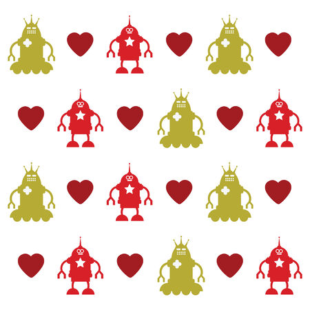 love robots texture Stock Vector - 5781808